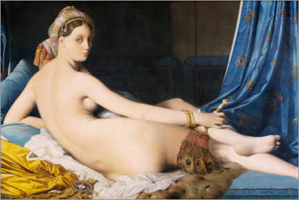Självhäftande poster  The Great Odalisque - Jean Auguste Dominique Ingres