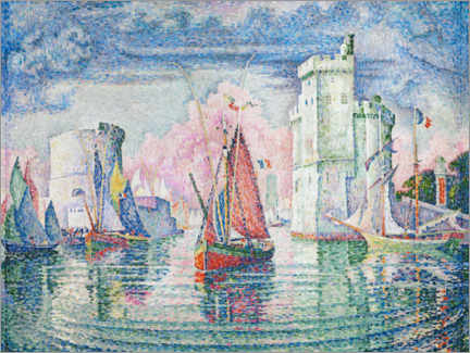 Canvastavla  The Port at La Rochelle - Paul Signac