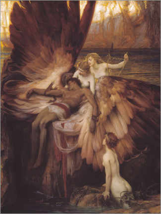 Akrylglastavla  Mourning for Icarus - Herbert James Draper