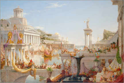 Akrylglastavla  The Course of Empire - The Consummation - Thomas Cole