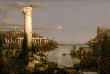 Aluminiumtavla  The Course of Empire - Desolation - Thomas Cole