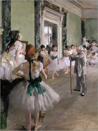 Premiumposter  The Dance Lesson - Edgar Degas