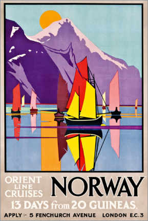 Canvastavla  Orient Line Cruises Norway - M.V. Jones