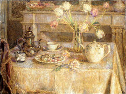 Premiumposter  The white tablecloth - Henri Le Sidaner