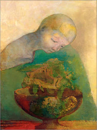 Premiumposter  Shell of becoming - Odilon Redon