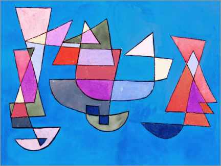 Canvastavla  Sailing boats - Paul Klee