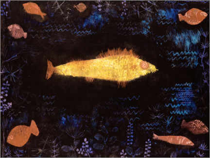 Canvastavla  The Goldfish - Paul Klee