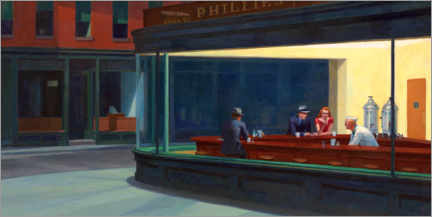 Premiumposter  Nattugglor - Edward Hopper