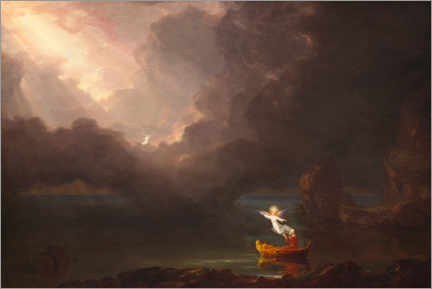 Canvastavla  The journey of life: old age - Thomas Cole