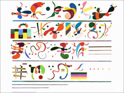 Canvastavla  Succession - Wassily Kandinsky