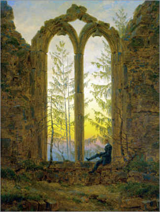Canvastavla  The Dreamer - Caspar David Friedrich