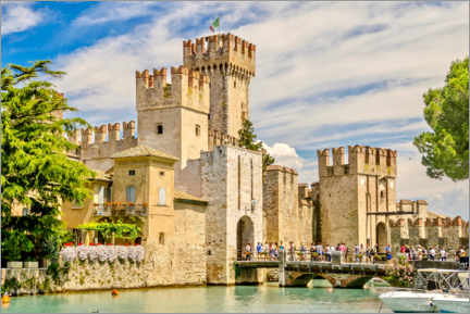 Premiumposter  The Scaliger Castle in Sirmione, Italy