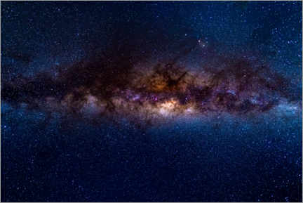 Premiumposter  The Milky Way galaxy, details of the colorful core. - Fabio Lamanna