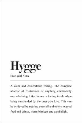 Premiumposter Hygge definition