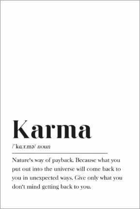 Premiumposter  Karma (engelska) - Pulse of Art