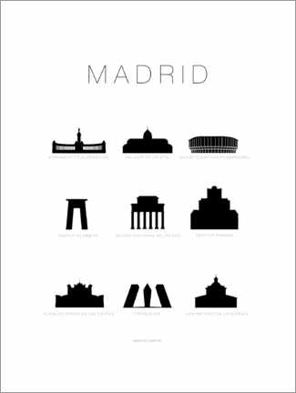 Premiumposter Madrid