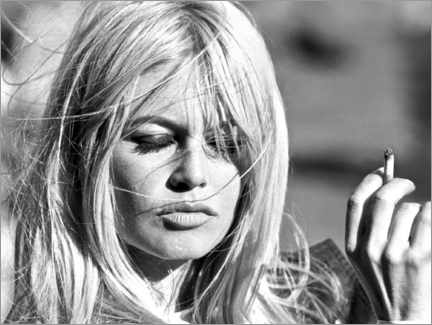 Canvastavla  Brigitte Bardot - fångad av vinden - Celebrity Collection