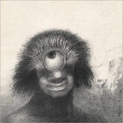 Canvastavla  Smiling and abominable Cyclops - Odilon Redon