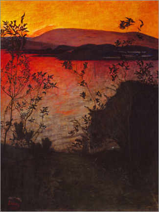 Premiumposter  Evening light - Harald Oscar Sohlberg