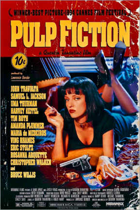 Canvastavla  Pulp Fiction (engelska) - Entertainment Collection
