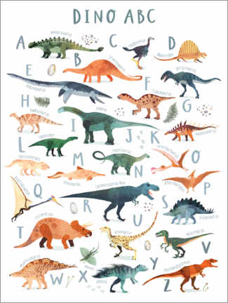Premiumposter Happy Dinosaur ABC