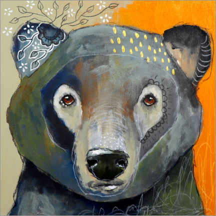 Canvastavla  Wisdom of the bear - Micki Wilde