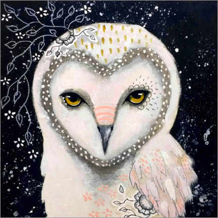 Akrylglastavla  Melody of the owl - Micki Wilde