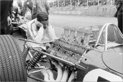 Akrylglastavla  Jim Clark and his Lotus 49 Ford, Zandvoort 1967