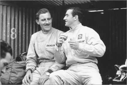 Premiumposter Graham Hill and Jackie Stewart, French GP, 1965