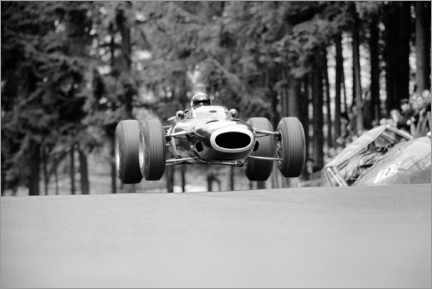 Canvastavla  Jackie Stewart at Brunnchen, Nürburgring, German GP 1966