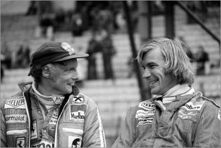 Premiumposter  Niki Lauda and James Hunt, Formula 1 GP, Belgium 1977