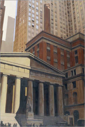 Premiumposter Federal Hall, Wall Street