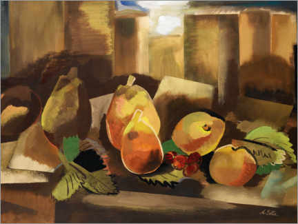Premiumposter Still life with pears