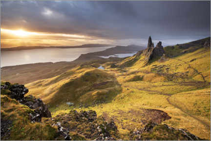 Premiumposter  The Old Man of Storr at sunrise - The Wandering Soul