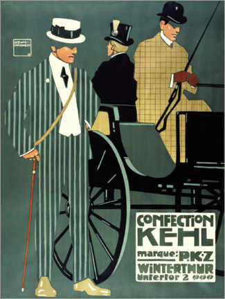 Premiumposter  Confection Kehl Winterthur - Ludwig Hohlwein