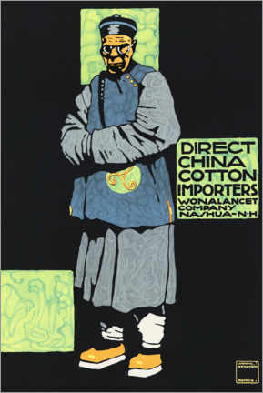 Premiumposter  Porcelain and cotton importer (English) - Ludwig Hohlwein