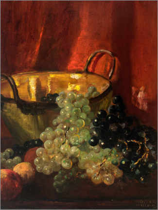 Premiumposter Still life with grapes
