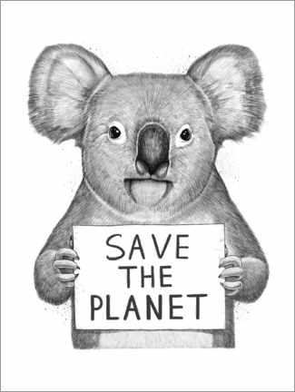 Premiumposter  Koala, save the planet - Nikita Korenkov