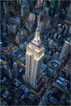 Canvastavla  Empire State Building aerial view - Jan Christopher Becke