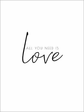 Premiumposter All you need is love