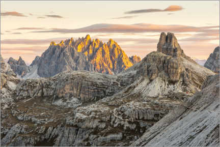 Premiumposter View of the Haunold in the Dolomites