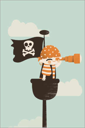 Premiumposter  The pirate on lookout - Kanzilue