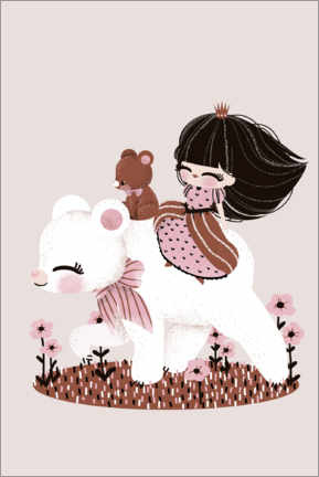 Premiumposter The princess and the bear