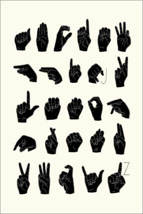Premiumposter  Sign language ABC - Emma Scarvey