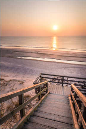 Premiumposter  Sunset at the Red Cliff on Sylt - Christian Müringer