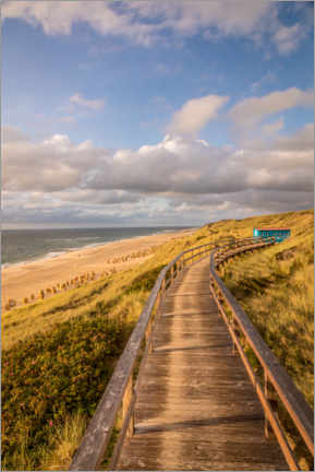 Premiumposter Path on the dunes on the beach on Sylt