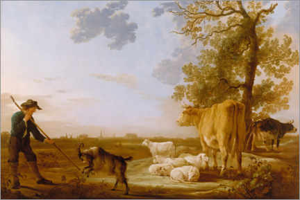 Premiumposter Landscape with cattle