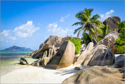 Premiumposter Dream beach in the Seychelles