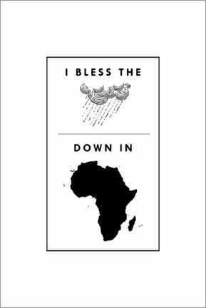 Akrylglastavla  I bless the rains down in africa - Typobox