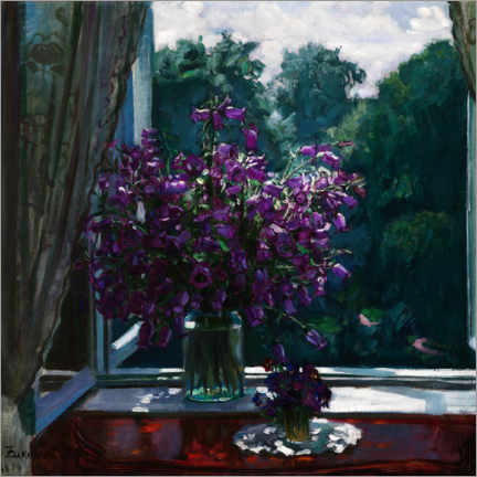 Premiumposter Bluebells on the window